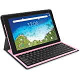 """RCA Viking Pro Tablet w/Folio Keyboard 10"""" Multi-Touch Display, Android Go Edition Pink"""