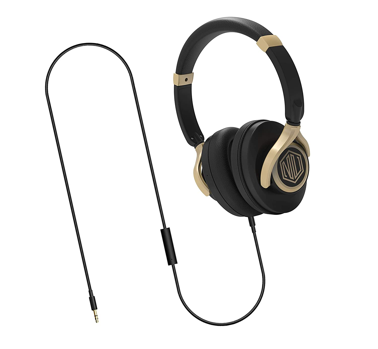 Nu Republic Starboy W Wired Headphone with Mic (Black and Gold)