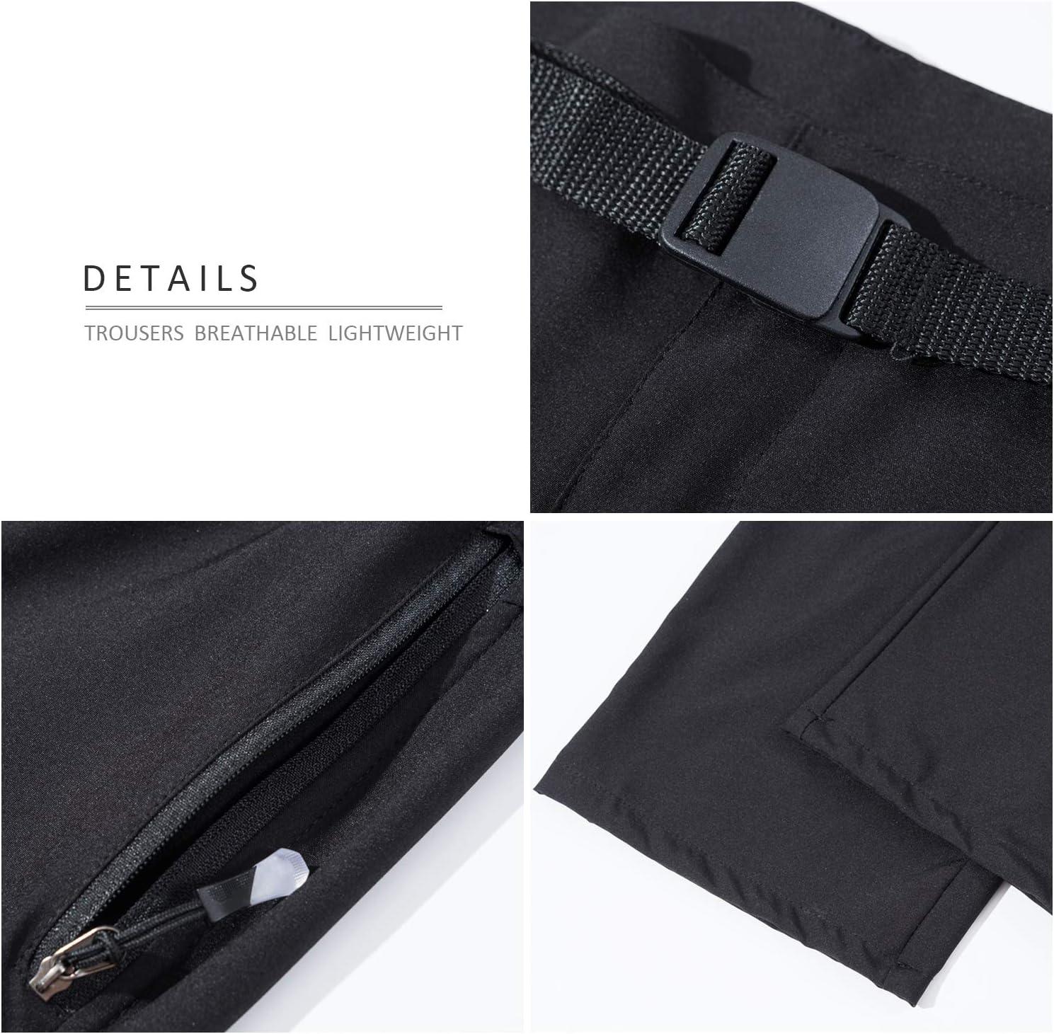 LHHMZ Pantalones de Senderismo con Cremallera Convertible para Hombre al Aire Libre Pantalones Deportivos Shorts