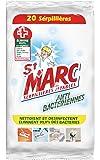 St Marc Serpillières Jetables Imprégnées Anti-bactériennes 20 Serpillières - Lot de 3