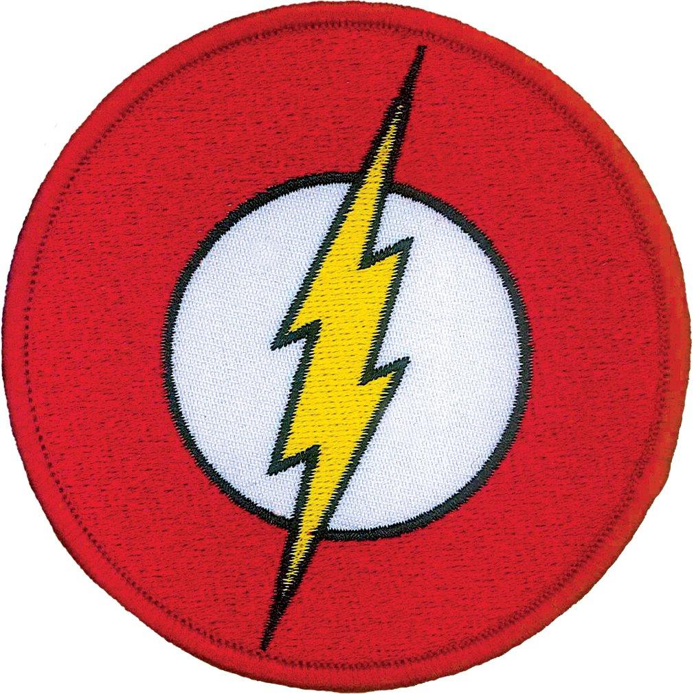 Ata-Boy DC Comics Flash Logo 3 Full Color Iron-On Patch Inc. 61025DC