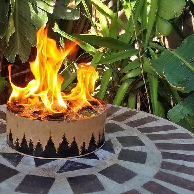 Amaping fogata portátil y reutilizable para camping al aire libre iluminación de larga duración tanque de fuego de campamento calentamiento portátil fogata: Amazon.es: Deportes y aire libre