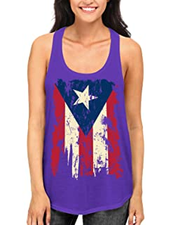 56be34c5483a8 SpiritForged Apparel Vintage Distressed Puerto Rico Women s Racerback Tank  Top