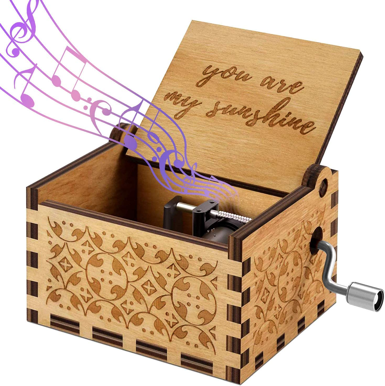 Kinder Spieluhr Gravierte Handarbeit Hölzerne Musikbox Geschenk Der Pate
