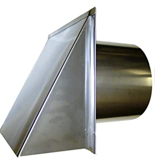 4 Inch Stainless Steel Exterior Side Wall Cap With Damper And Screen