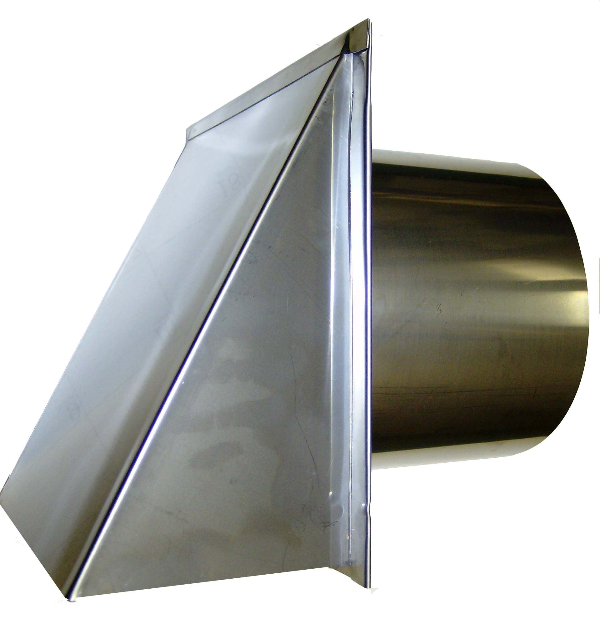 7 Inch Stainless Steel Exterior Side Wall Cap with Damper and Screen