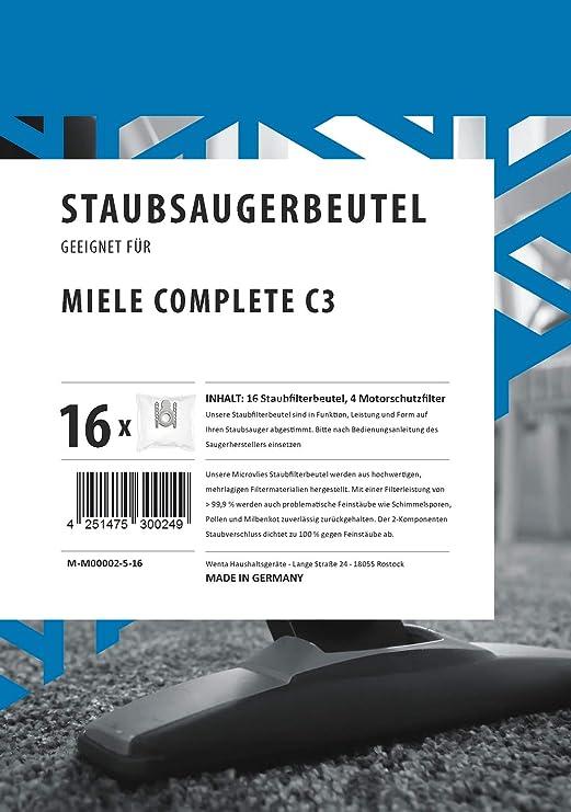 Bolsas de aspiradora Miele Complete C3 con filtro de protección ...