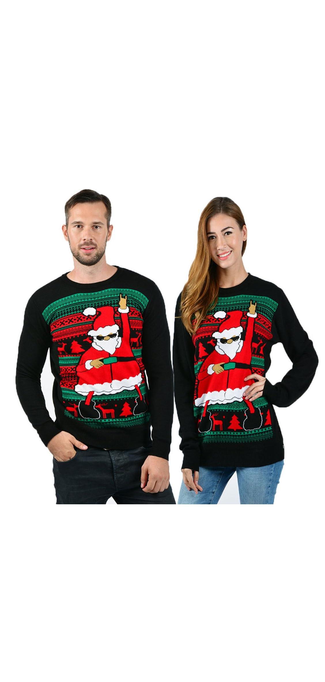 Unisex Ugly Christmas Sweaters Long Sleeve Round Neck