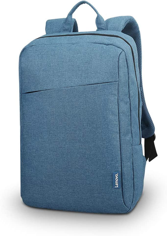 Lenovo Laptop Backpack B210, fits for 15.6-Inch laptop and tablet, sleek for travel, durable, water-repellent fabric, clean design, business casual or college, for men women students, GX40Q17226, Blue