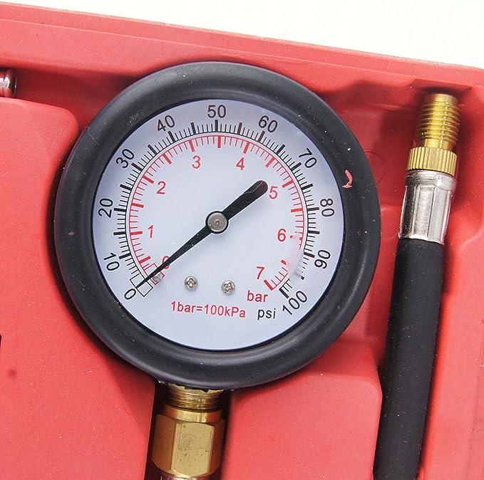 449855 Fuel Injection Pump Pressure Gauge Tester Gasoline Test Tools Tuner Car