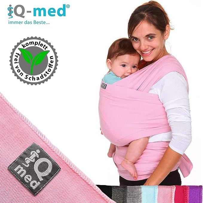 iQ-med Écharpe de portage pour bébé - pour nouveau-nés et bébés jusqu à 15  kg - Bio - Respirant - avec notice (français non garanti)  Amazon.fr  Bébés    ... 83bddd879b0