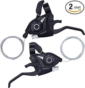 3x6//7 Speed MTB Mountain Bike Thumb Gear Left Shift Lever Or Shifter Set