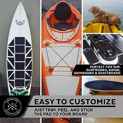 Surfboard Traction Pad EVA Anti-Slip Mat Boat Floor Traction Mat for Boat