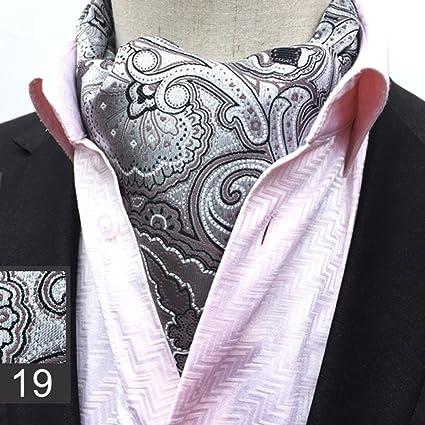 VANKER Corbata para Caballero Estilo Floral Seda Cravat Corbata de ...