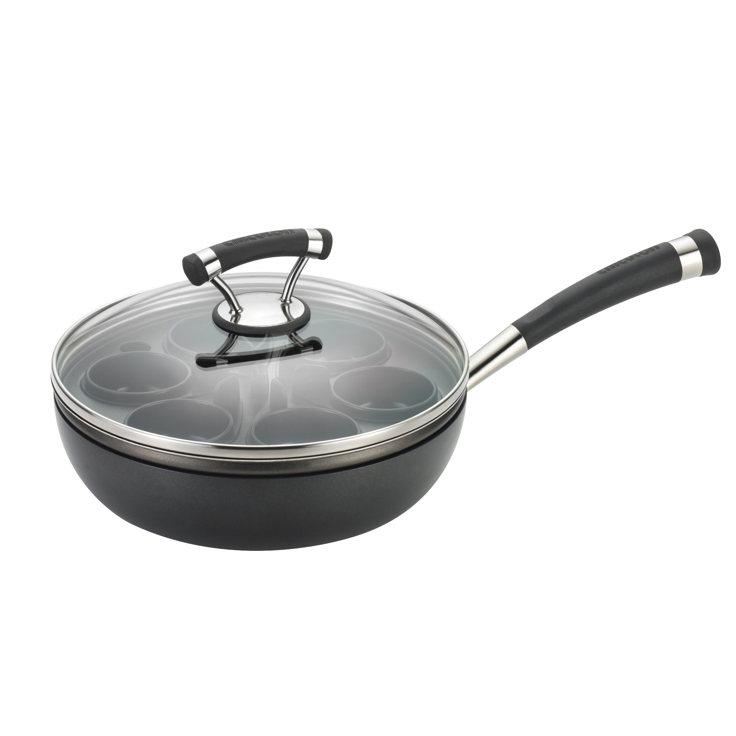 Circulon Contempo Hard Anodized Nonstick 9-1/2-Inch Covered Egg Poacher