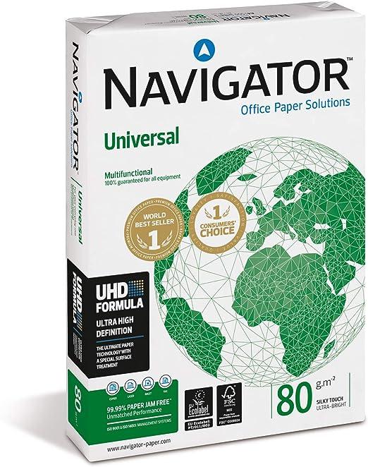 Navigator A3 80 gr - Papel, paquete de 500 hojas: Amazon.es: Oficina y papelería