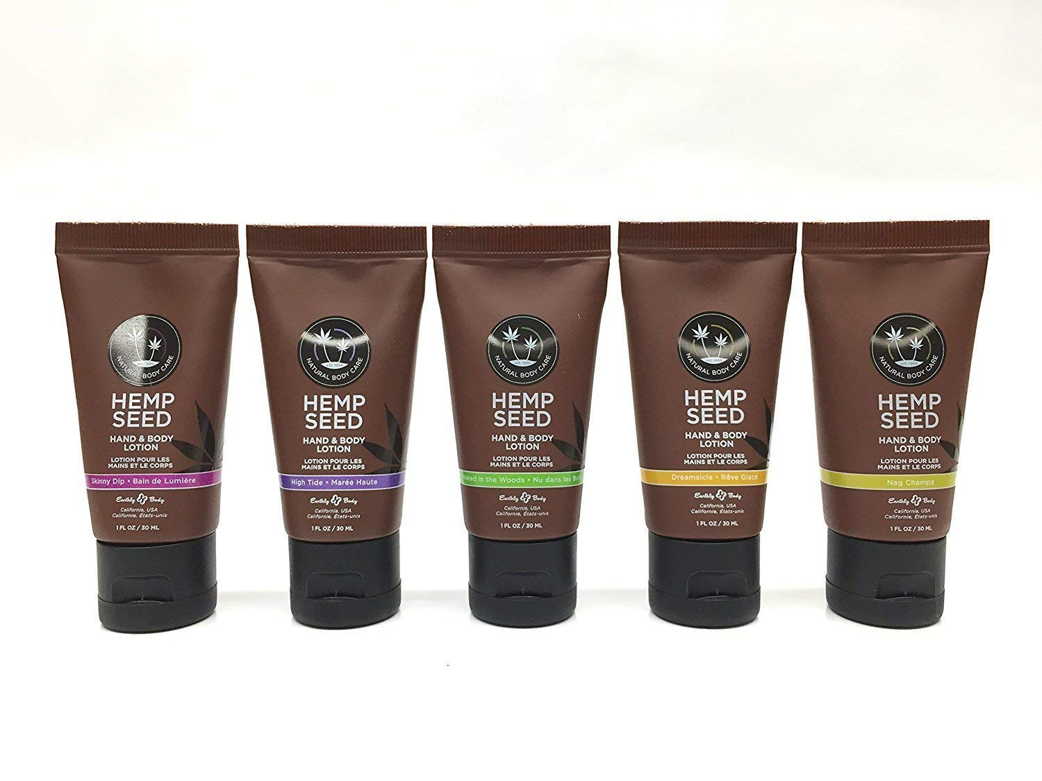 Earthly Body Hemp Seed Hand & Body Lotion 1oz (Set of 5)