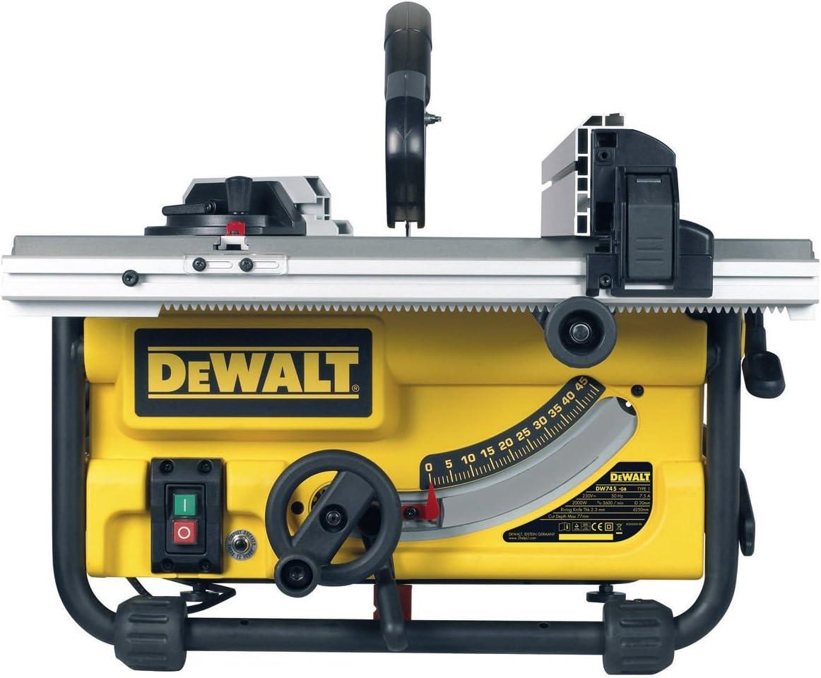Dewalt DW745-QS Sierra 1.700W-diámetro de 250 mm-Mesa 630 x 570 mm ...