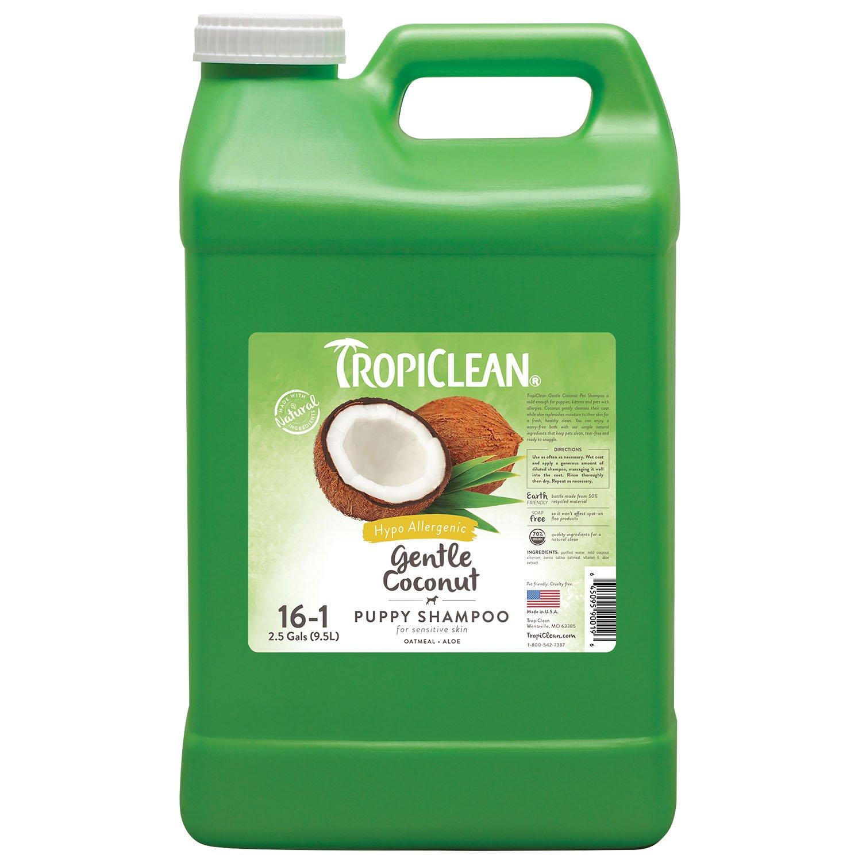 TropiClean Gentle Coconut Hypoallergenic Puppy Shampoo 2.5 Gallon