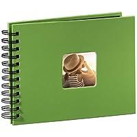 Hama Fotoalbum Spiralalbum (50 Schwarze Seiten, 25 Blatt, Größe 24 x 17 cm, mit Ausschnitt für Bildeinschub)