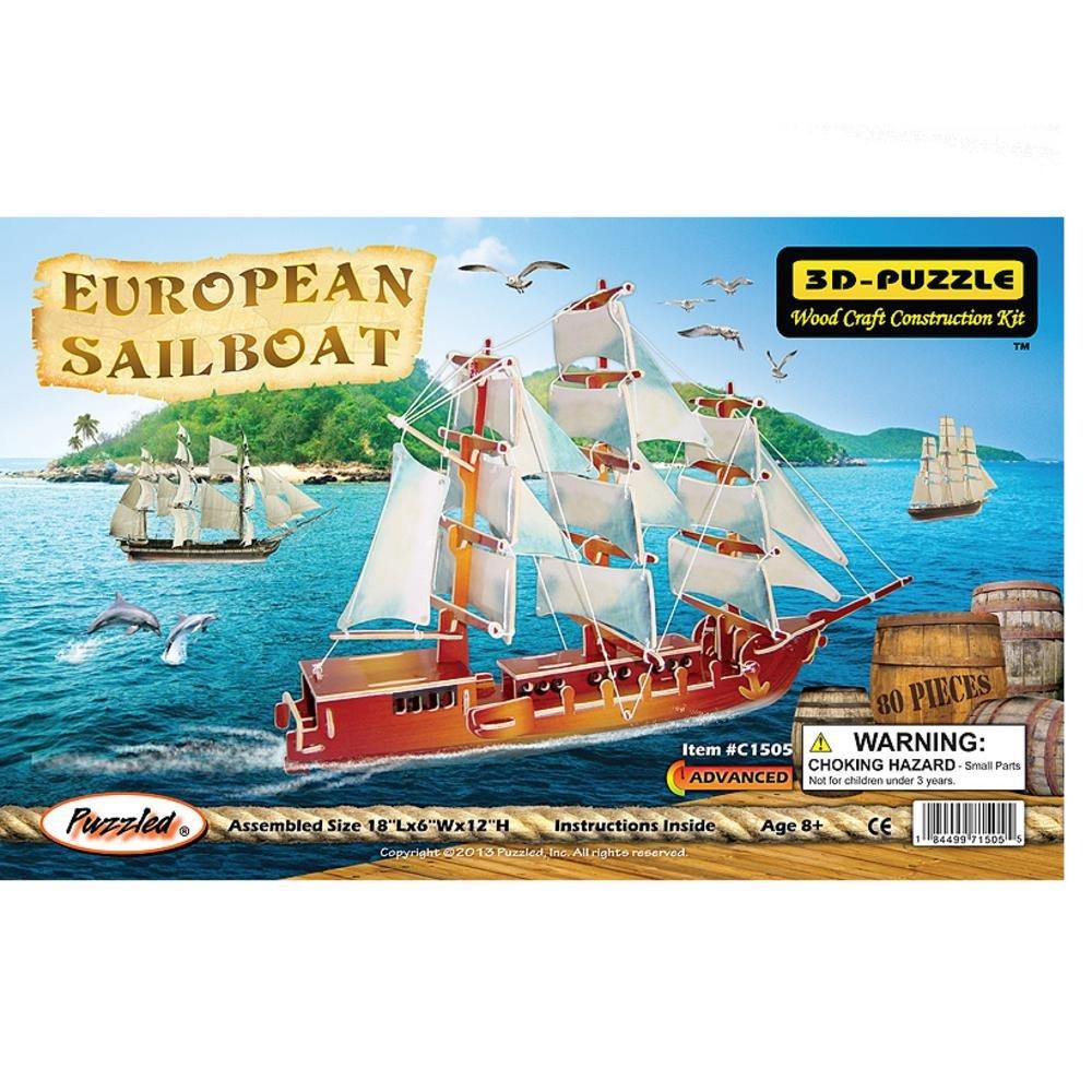 最も  Puzzled Illuminated C1505 Illuminated European European Puzzled Boat B0028EC6IU, petit et petite:d277068b --- quiltersinfo.yarnslave.com