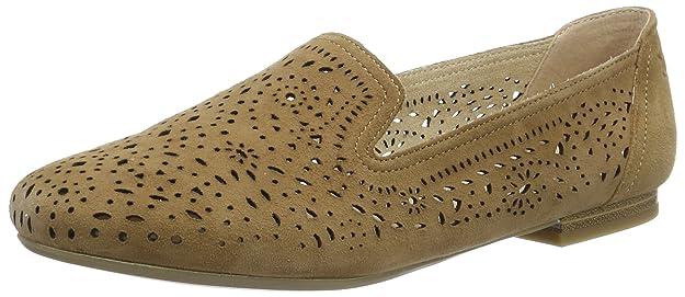 Footwear Womens 24501 Loafers, Blue, 5 UK Caprice