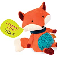 B. Toys – Happy Yappies – Pipsqueak The Fox – Talking Teddy Toy Repeats What You Say - Stuffed Fox Plush Toy – Sensory…