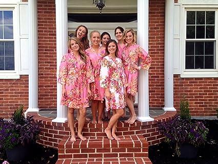 Amazon bridesmaid robes set of 7 bridesmaid cotton robes bridesmaid robes set of 7 bridesmaid cotton robes kimono robe fast shipping m4hsunfo