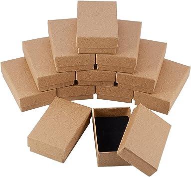NBEADS 24 Piezas Caja de Joyas de Cajas de Cartón de Rectángulo de ...