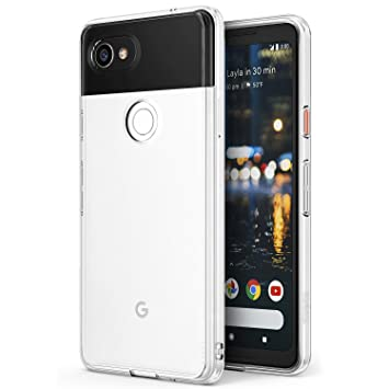 pretty nice 2daec 77307 Ringke Google Pixel 2 XL Case, [FUSION] Crystal Clear PC Back TPU Bumper  [Drop Protection/Shock Absorption Technology] Raised Bezels Protective  Cover ...