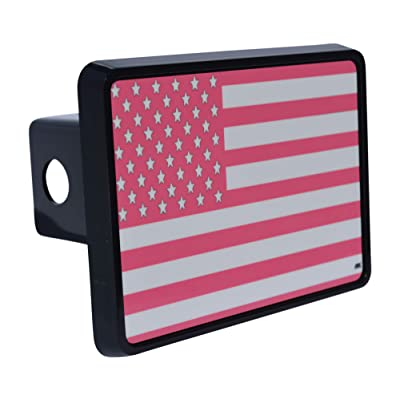 Rogue River Tactical Pink USA American Flag Trailer Hitch Cover Plug US Patriotic for Her Women: Automotive