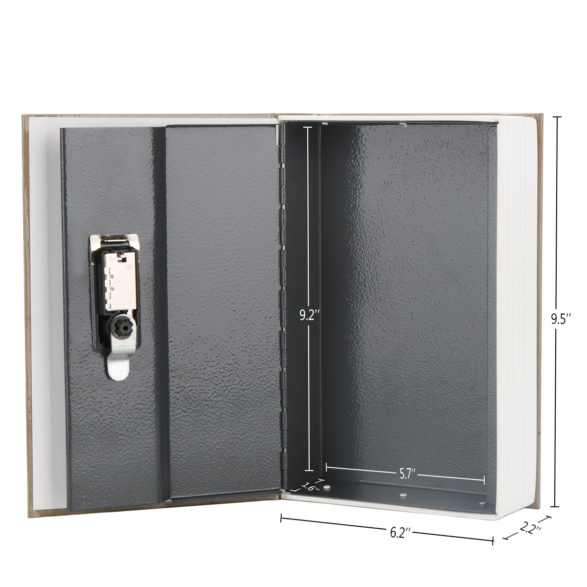 Diversion Book Safe with Combination Lock, Decaller Safe Secret Hidden Metal Lock Box, 9 1/2'' x 6'' x 1 1/3'', New York by Decaller (Image #3)