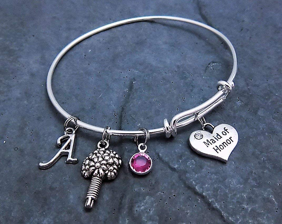 THANK YOU CHIEF BRIDESMAID WISH BRACELET CHARM GIFT CARD VARIOUS COLOURS CHARMS