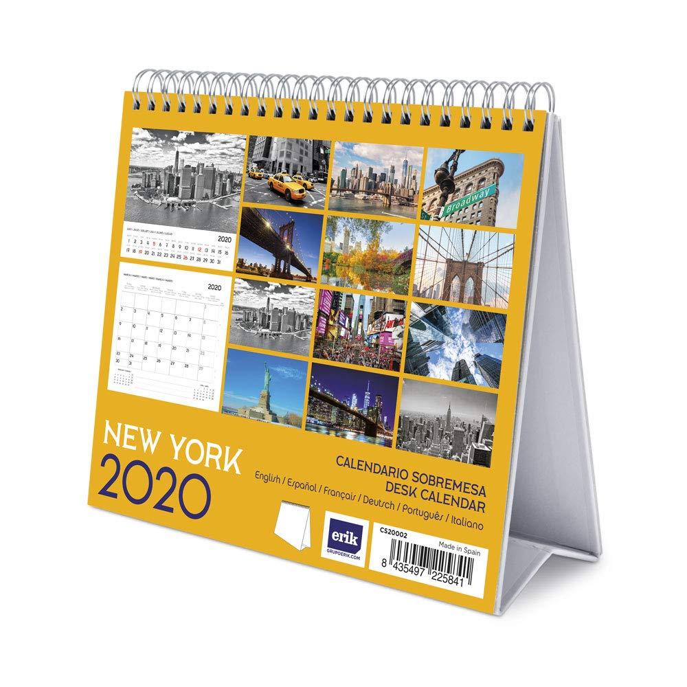 Calendrier de Bureau 2020 New York 17 x 20 cm Erik