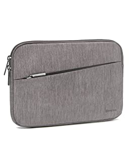 Evecase iPad Mini 4 Sleeve, Water Repellent Shockproof Portable Carrying Protective Case Bag with Accessory Pocket for iPad Mini 4, 3, 2 / Android 7-8 inch Tablet Device - Warm Gray