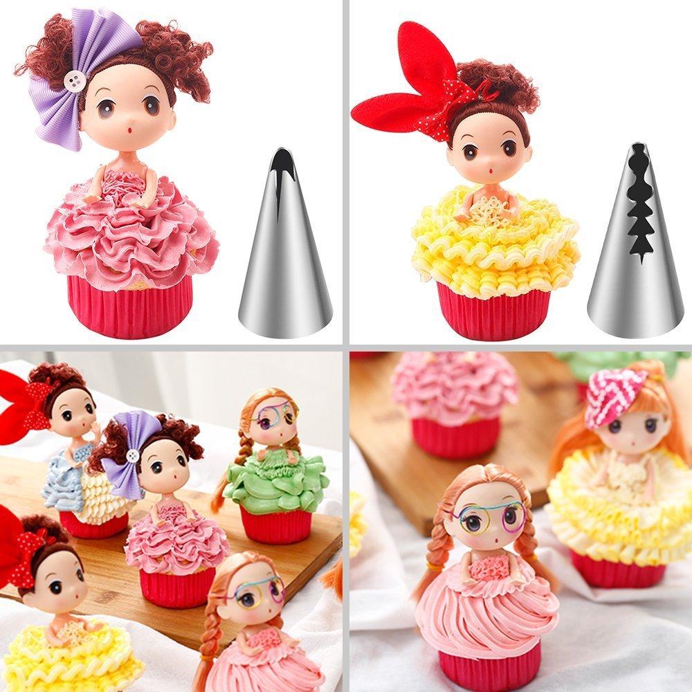 KWOW 8pcs Ruso tulipán Flor Manga pastelera boquillas Barbie ...