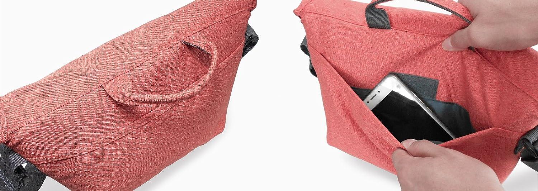 Stylish Melange Fabric Camera Shoulder Bag to carry a DSLR Camera 1 standard zoom lens