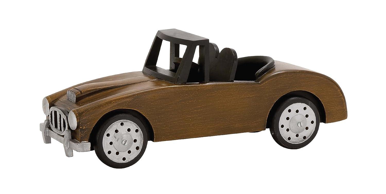 Benzara Sassy Styled Fascinating Wood Car Yellow