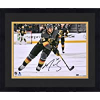 """$69 » Framed Ryan Reaves Vegas Golden Knights Autographed 8"""" x 10"""" Black Jersey Skating Photograph - Fanatics Authentic Certified"""