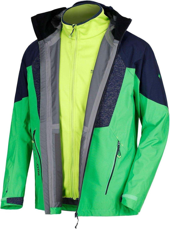 Regatta Sacramento IV 3 in 1 Mens Waterproof Jacket Green L XL 2XL 3XL