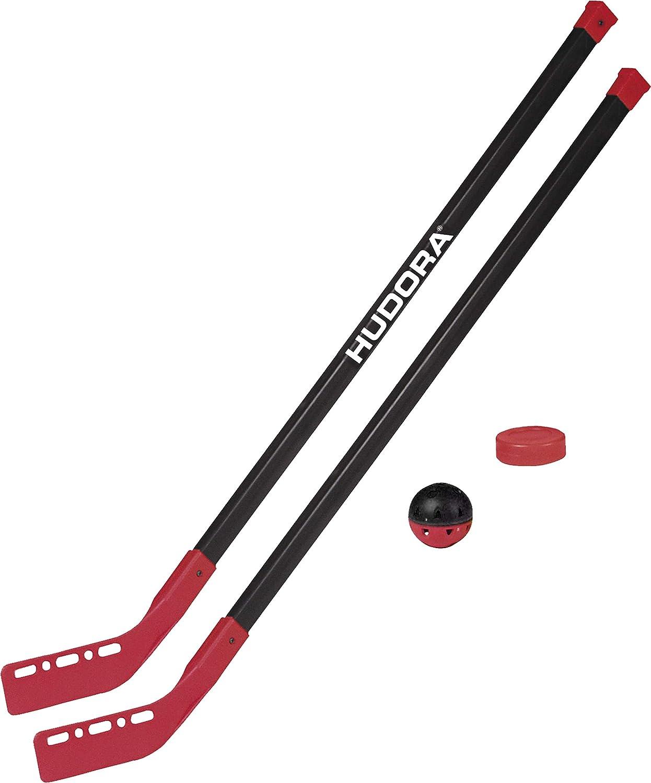 2 Street-Hockeyschl/äger 76121 1 Hockey-Puk HUDORA Street Hockey-Set Junior 1 Hockey-Ball