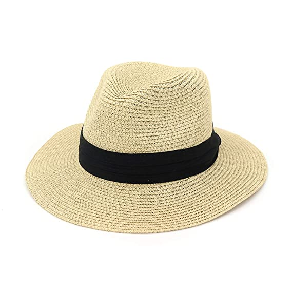 a630d63339039 Mai Poetry Women s and Men s Panama Hat Foldable Packable Straw Beach  Summer Fedora Sun Hat (