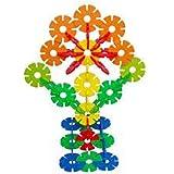 New 100Pcs Colorful Plastic Snowflake Building Blocks Puzzle Educational Kid Toy