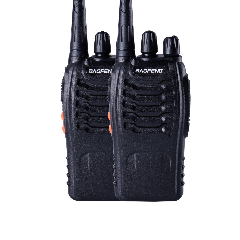 Baofeng BF-888s UHF High Power Intelligent FM Illumination Flashlight Walkie Talkie Two-Way Radio(2 Pack)