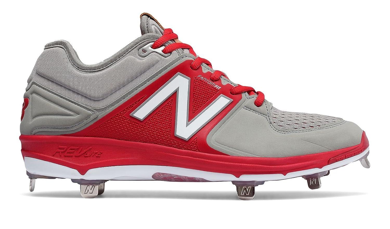 (ニューバランス) New Balance 靴シューズ メンズ野球 Low-Cut 3000v3 Metal Cleat Grey with Red グレー レッド US 7 (25cm) B01N3LYWMM
