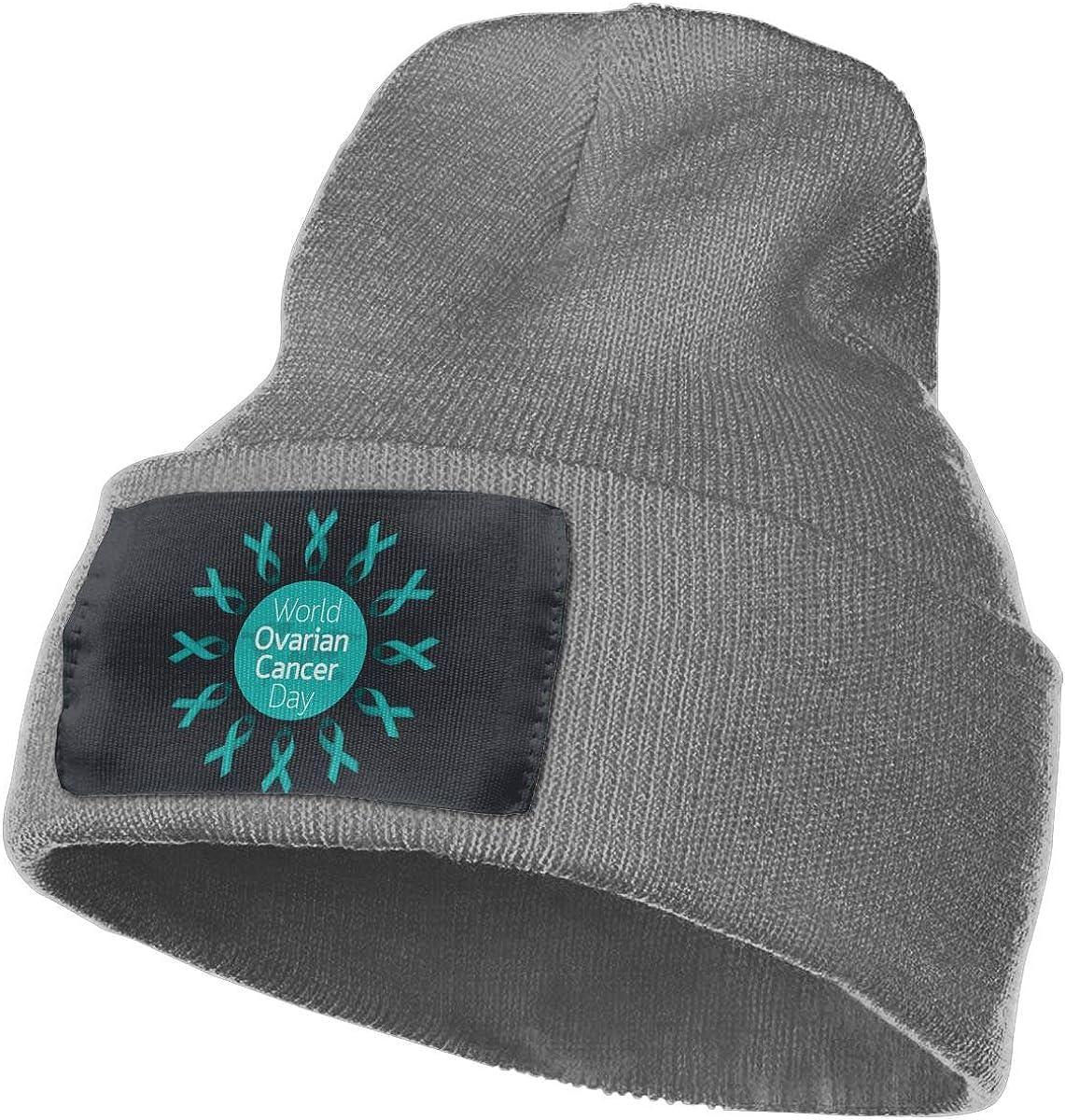 AgnWad Unisex Green Breast Cancer Ribbon Knit Cap Soft Stretch Knit Hat Cap Winter Warmer Knit Cap Winter Warm Knitting Hats