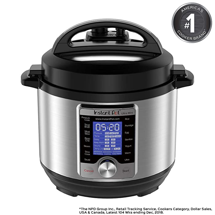 Instant Pot Ultra 3 Qt 10-in-1 Multi- Use Programmable Pressure Cooker, Slow Cooker, Rice Cooker, Yogurt Maker, Cake Maker, Egg Cooker, Sauté, Steamer, Warmer, and Sterilizer