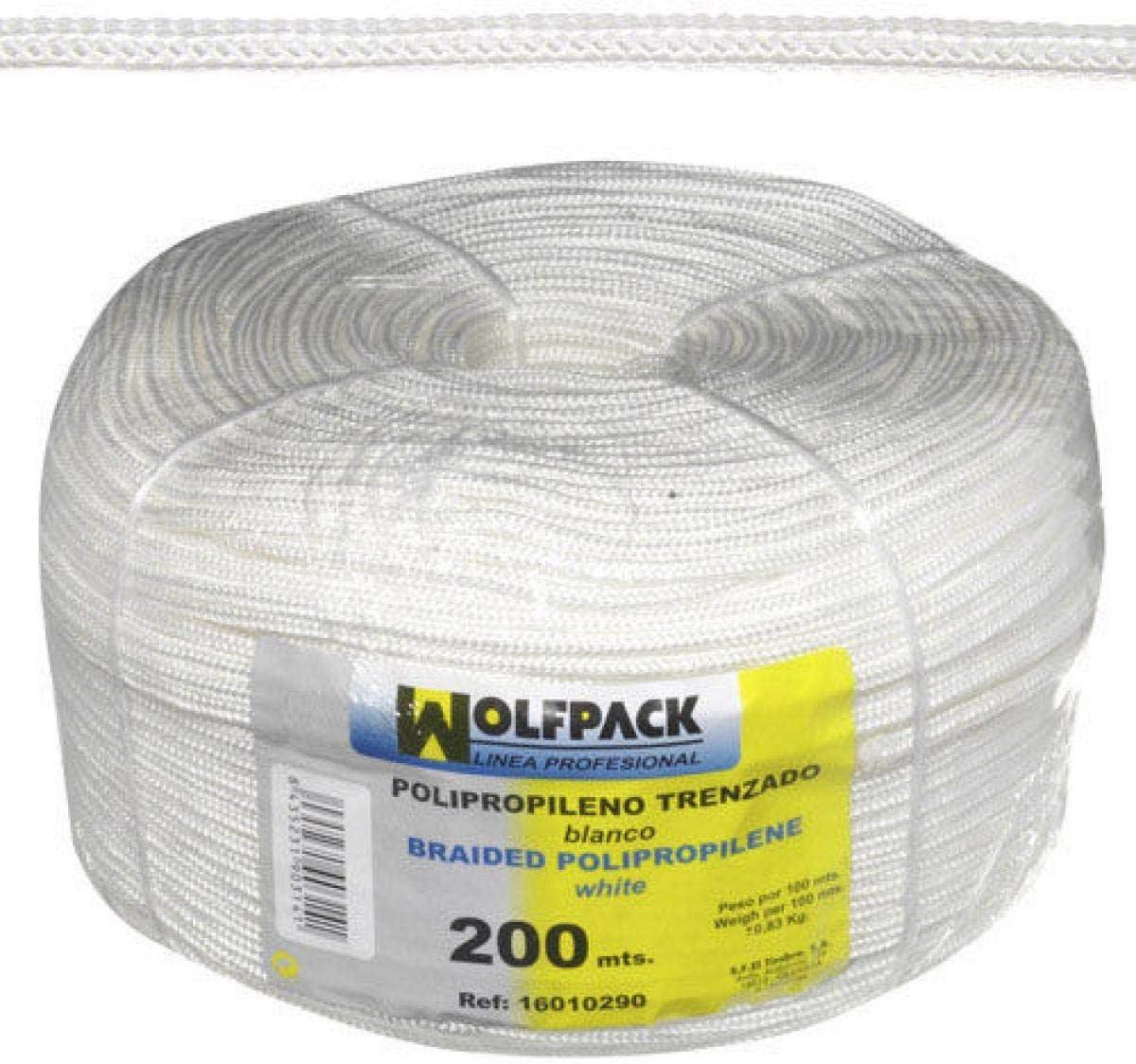 WOLFPACK LINEA PROFESIONAL 16010290 Cuerda Trenzada Polipropileno Blanca (Bobina 200 m.)