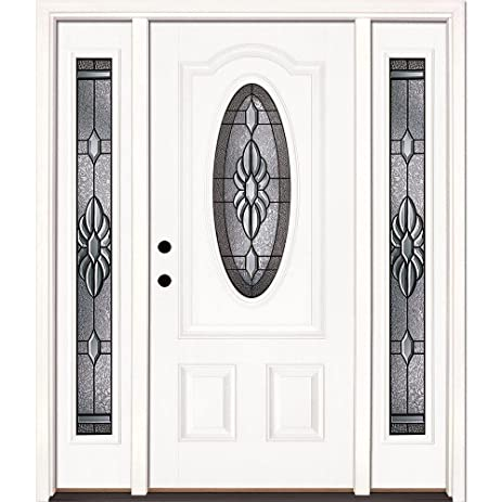 Feather River Doors Sapphire Patina 34 Oval Lite Primed Smooth