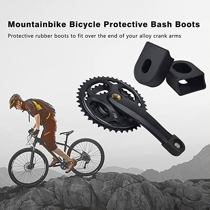 Tbest Bicycle Crank Protector,5PCS Bike Silicone Crank Boots Bicycle Crank Arm Boots Protective Gear for Bike Bicycle